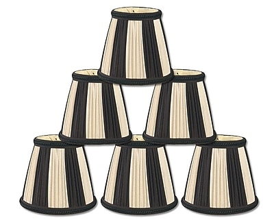 RoyalDesigns 5'' Silk Empire Candelabra Shade (Set of 6)