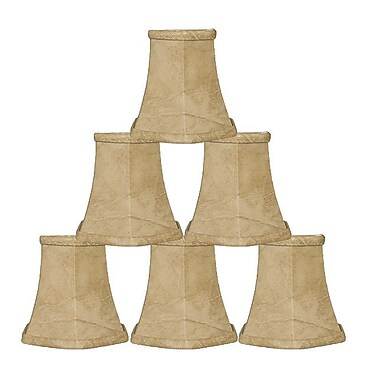 RoyalDesigns 5'' Faux Leather Bell Candelabra Shade (Set of 6)