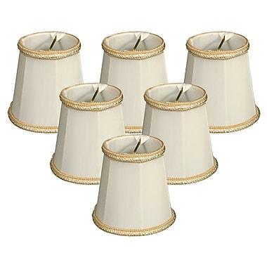 RoyalDesigns 4.25'' Silk Empire Candelabra Shade (Set of 6); White