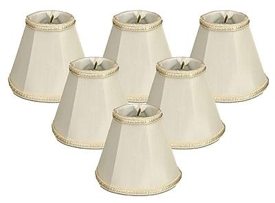 RoyalDesigns 5'' Silk Empire Candelabra Shade (Set of 6); White