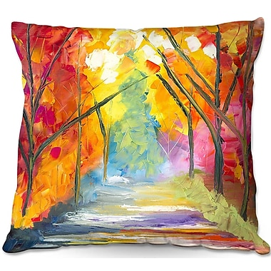 East Urban Home The Road Less Traveled Throw Pillow; 16'' H x 16'' W x 4'' D