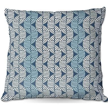 East Urban Home Waves Throw Pillow; 20'' H x 20'' W x 5'' D