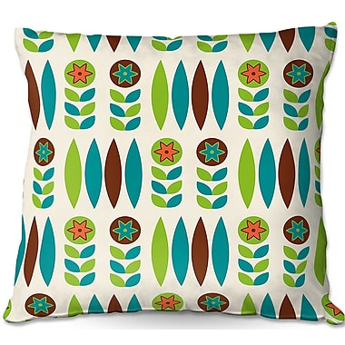 East Urban Home Mid Century Spring Floral Throw Pillow; 22'' H x 22'' W x 5'' D
