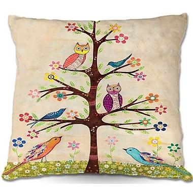 East Urban Home Owl Bird Tree Throw Pillow; 20'' H x 20'' W x 5'' D
