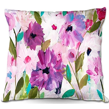 East Urban Home Blossoming Flowers Throw Pillow; 20'' H x 20'' W x 5'' D