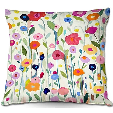 East Urban Home Flowers Throw Pillow; 22'' H x 22'' W x 5'' D