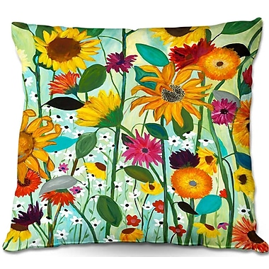 East Urban Home Sunflower Throw Pillow; 22'' H x 22'' W x 5'' D