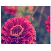 DesignArt 'Vintage Photo of Cute Red Flowers' 3 Piece Photographic Print on Canvas Set