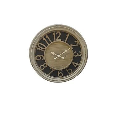 The Urban Port – Horloge en bois, blanc antique (C205-123125)