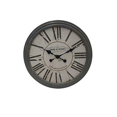The Urban Port – Horloge en bois, gris classique (C205-123126)