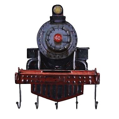 The Urban Port – Locomotive rustique avec crochets muraux (C239-124139)