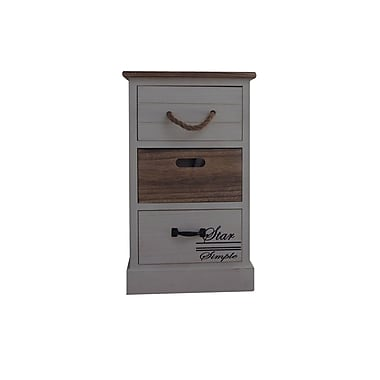 The Urban Port – Armoire en bois contemporaine à 3 tiroirs, brun (C203-123100)