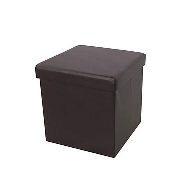 The Urban Port – Pouf de rangement pliable, brun (C206-123049)
