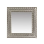 The Urban Port Mirror with Square Frame, Silver (C205-123124)
