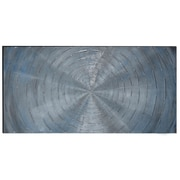 The Urban Port Circles Hand-Painted Wooden Wall Art (C224-124111)
