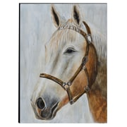 The Urban Port Horse Hand-Painted Wooden Wall Art (C224-124113)