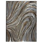 The Urban Port Swirls Hand-Painted Aluminum & Wood Wall Art (C224-124116)