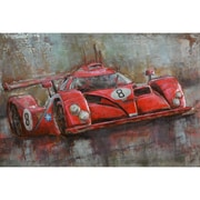 The Urban Port Red Number 8 Sport Car Iron Wall Art (C239-124127)