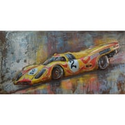 The Urban Port Red Number 2 Sport Car Iron Wall Art (C239-124128)