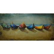The Urban Port Boats On Beach Nautical Iron Wall Art (C239-124131)