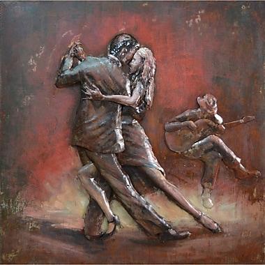 The Urban Port – Art mural en fer, couple dansant le tango (C239-124132)