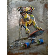The Urban Port Dog On Board Iron Wall Art (C239-124134)