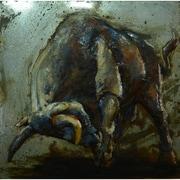The Urban Port Raging Bull Metal Wall Art, Small (C239-124137)