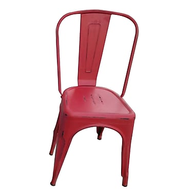 The Urban Port Tolix Steel Chair, Red, 2/Pack (C210-123052)