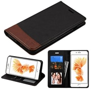 Insten Leather Folio Wallet Case Stand Cover with Photo display & Card slots For iPhone 7 Plus - Black/Brown