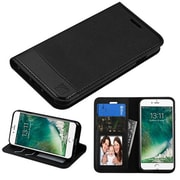 Insten Slim Fit Leather Folio Wallet Case Stand Cover with Photo display & Card slots For iPhone 7 - Black