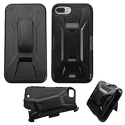 Insten Hard Hybrid Plastic Silicone Cover Case w/Holster For Apple iPhone 7 Plus - Black