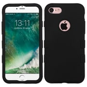 Insten Tuff Hard Hybrid Rubberized Silicone Cover Case For Apple iPhone 7 - Black