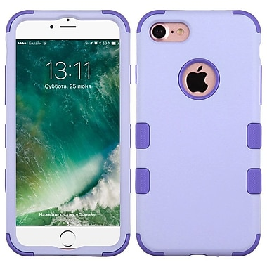 Insten Tuff Hard Dual Layer Rubber Silicone Cover Case For Apple iPhone 7 - Purple