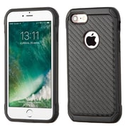 Insten Carbon Fiber Hard Hybrid Rubber Silicone Case For Apple iPhone 7 - Black