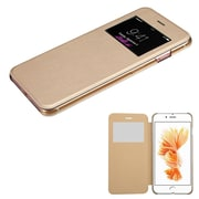 Insten Ultra Slim Fit Leather Case Cover with Window For Apple iPhone 7 Plus - Gold