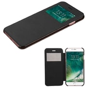 Insten Ultra Slim Fit Leather Case Cover with Window For Apple iPhone 7 - Black
