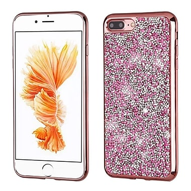 Insten Rose Gold Mini Crystals Rhinestones Desire Hard Case Candy Skin Cover (Rose Gold Frame) for Apple iPhone 7 Plus