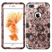 Insten Tuff Four-leaf Clover Hard Hybrid Rubber Silicone Cover Case For Apple iPhone 7 Plus - Rose Gold/Black