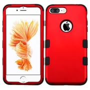Insten Tuff 3-Piece Style Shockproof SoFT TPU Hard Hybrid Cover Case For iPhone 7 Plus - Red/Black