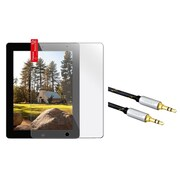 Insten Reusable Screen Protector For Apple iPad 2 / 3 / 4 (+3.5mm Aux Auxiliary Audio Stereo Extension M/M Cable)