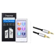 Insten Reusable Screen Protector For Apple iPod nano 7 7th Generation (+ 3.5mm Universal Audio Cable)