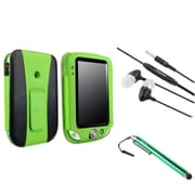 Insten Green Leather Case with Stand + Stylus + Headset for Leapfrog LeapPad Ultra/Ultra Xdi