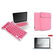"Insten Clear Screen Protector+Light Pink Keyboard Shield+Sleeve for Macbook Air 13"" A1466 A1369"