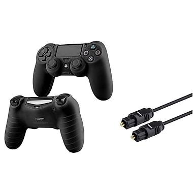 Insten ? Câble audio optique numérique Toslink de 3 pi et étui noir pour PS4 de Sony (1576291)