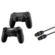 Insten 3FT Digital Optical Audio TosLink Cable + Black Cover Case for Sony PS4
