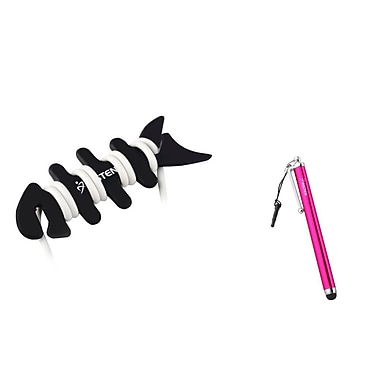 Insten Metal Stylus Touch Screen Pen With Dust Cap For iPhone iPad Mini And Fishbone Wrap, Pink (1062598)