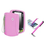 Insten Pink Silicone Case with FREE Pink Stylus For Leapfrog LeapPad 2