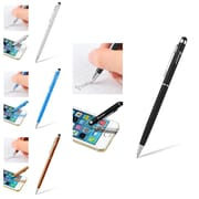 Insten 4 Packs (Black+Silver+Blue+Orange) Touch Screen Stylus Ballpoint Pen for Samsung Nokia LG HTC iPad iPhone