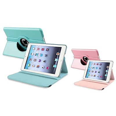 Insten Blue+Pink 360 Rotating Leather Case Cover For iPad Mini 3 2 1