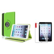 Insten Green Case Rotating Leather Case Cover+2pcs Protector for Apple iPad Mini 1 2 3